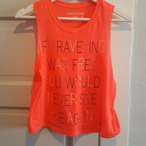 Rebellious One Hot Pink Quote Tank Top Jr. Large